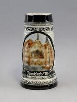9959078 Porcelana Städte-bierkrug Relieve Frankfurt / con 1L Sonderposten H23cm