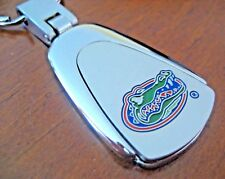 new! UNIVERSITY of FLORIDA GATORS Silver Blue colored filled keychain key ring