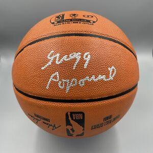 Gregg Popovich Signed Autographed Spalding NBA Basketball Beckett BAS Spurs