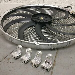 1961 Plymouth Sport Wagon 16 Inch Chrome Radiator Fan cooling performance