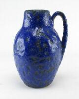 Scheurich 414 - 16 70er Keramik Vase Fat Lava blau wgp ceramic space age