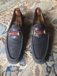 Gucci horsebit suede loafers 45 1/2