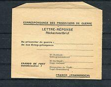 Ungebrauchter Feldpostumschlag Rückantwortbrief Frankreich - b2254