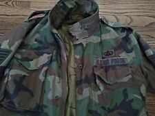 USAF Field Jacket Small Regular Cold Weather Woodland Coat M-65 U.S AIR FORCE