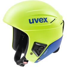 UVEX RACE + PLUS SKI SNOWBOARD RACING HELMET Lime Cobalt 58 - 59 cm FIS APPROVED