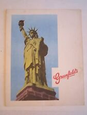 "VINTAGE GREENFIELD'S RESTAURANT MENU - 8 1/2"" X 10 3/4"" CLOSED MENU -TUB BN-14"