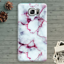 White Marble Red Granite Cool Pattern Samsung Galaxy Note 3,4,5 Hard Case