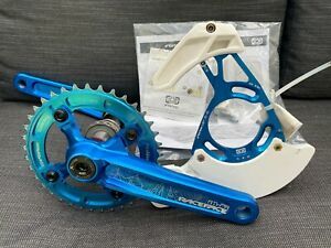 Blue Race Face Crankset 165mm with e Thirteen 37t chainring and LG1 Chainguide