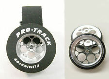 """Pro Track """"Magnum"""" 1 1/16"""" x .435 wd Matching Rear & Ft Drag 1/24 Slot Car Tire"""