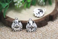 20pcs- Hamster Charms silver Guinea Pig or Gerbil charm pendants 14x18mm