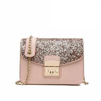 Chain Strap Shoulder Bags For Ladies Elegant Leather Flap Bag Cross-body Handbag