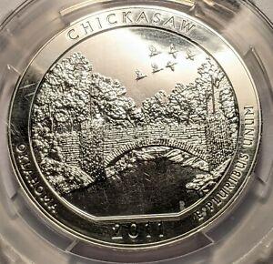 2011- 25C CHICKASAW NATION RECREATION CENTER 5oz SILVER COIN ANACS MS-69 🇺🇸