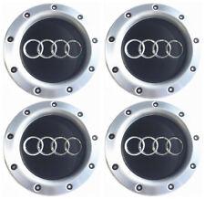 4 x Noir Cache Jante moyeux Centre roue 8D0601165K Pour AUDI A3 A4 A6 RS4 RS6 TT