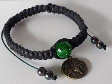Adjustable Antique Bronze Brass Astrology Star Sign Taurus Shamballa Bracelet