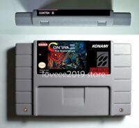 Contra 3 III The Alien Wars SNES GAME USA/NTSC version video game cartridge cart