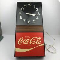 Vintage Coca-Cola Electric Clock for Diner Restaurant WORKS.