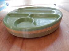 Retro Plastic Cafeteria Trays X 10, 12 Inch, 5 Compartment, Used, Mixed Colors!