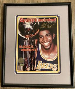 Magic Johnson Signed 1980 Sports Illustrated UDA COA Framed 13 1/2 X 16 1/4