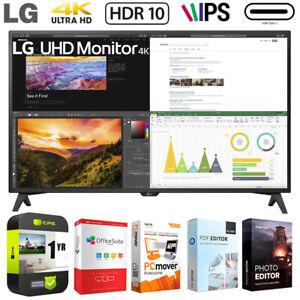 "LG 43UN700T-B 43"" 4K UHD 3840x2160 IPS USB-C HDR 10 Monitor w/ Warranty Bundle"