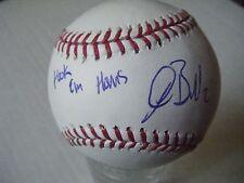 JOSH BELL signed HOOK EM HORNS PIRATES Rawlings OML baseball AUTO TEXAS LONGHORN