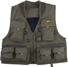 M-XXXL Gr Behr Anglerweste Outdoorweste in grün mit 11 Taschen
