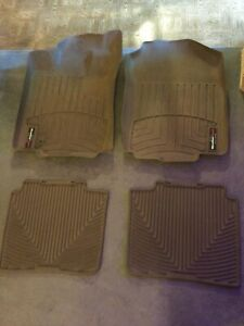 weathertech tan front and rear 2010 ford fusion floor mats