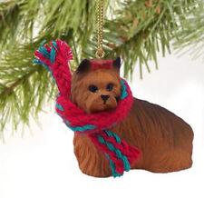 YORKIE YORKSHIRE TERRIER  DOG CHRISTMAS ORNAMENT HOLIDAY XMAS Figurine Scarf