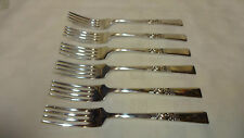 Vintage Set Of 6 Silver Plated Smith Seymour Morning Star Dinner Forks Lot 2