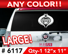 "TRANSFORMERS DECEPTICON COBRA LARGE DECAL STICKER 12""w x11  Any 1 Color"