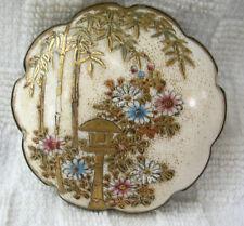 19th century Fine Japanese Gilt Satsuma Porcelain  Belt Buckle
