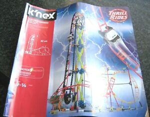electric inferno roller coaster ride  instruction book in good condition
