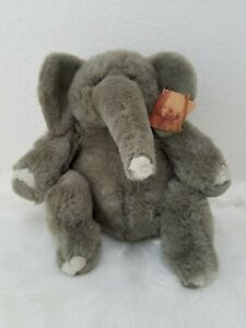 "Russ Lou Rankin Friends Hoover Gray Elephant 13"" Plush Stuffed Animal Toy"