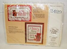 New The Creative Circle 2429 A Beary Merry Christmas Cross Stitch Pattern / Kit