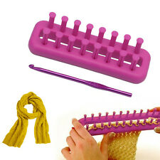 Rectangle Scarf Knitting Loom Kit Set Sewing Needle Scarves DIY Craft Tool