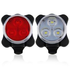 Bicycle Bike 3 LED 4 Modes Head Front Rear Tail Light Lamp USB Rechargeable  BS