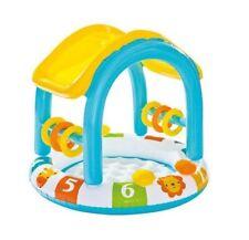 Piscina para niños bebe con suelo hinchable toldo + accesorios intex 102x86cm