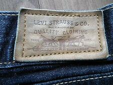 Levis 522 para señoras mujeres Ultra Baja altura Bootcut Dark Blue Jeans W34 L28 UK Size 10