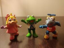Vintage 1988 Applause Baby Muppets Pvc Figures Kermit, Gonzo And Miss Piggy