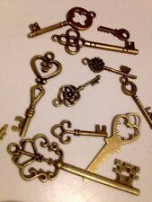 X7 Old Fashioned KEYS Rustic Hippy Boho Gold Antique Design Jewel wary Box Goth