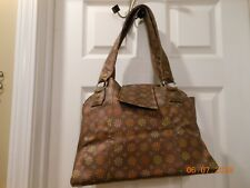 CONCEALED CARRY PURSE CUTE RETRO LOOK BROWN COPPER LARGE SHOULDER BAG