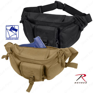 Rothco's Concealed Carry Waist Pack - Black & Coyote Brown Tactical Fanny Pack