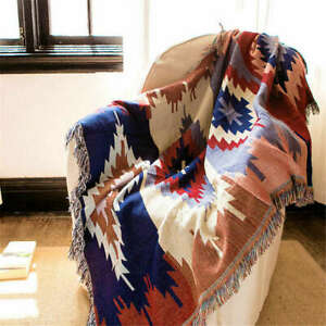 Tribal Ethnic Geometric Aztec Navajo Decke werfen Teppiche Couch Sofa Art Decor