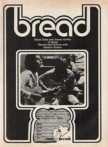 1973 Bread / David Gates & Jimmy Griffin for Ovation Guitars - Vintage Ad