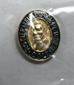 Colt Black Powder Lapel Tie Tack w/Chain Pin Samuel Colt Portrait Vintage