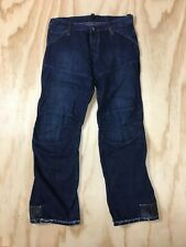 G Star Raw Elwood Safety Plus Button Fly Motorcycle Denim Blue Jeans Men's 36x34