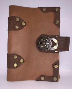 handmade leather with turning hing Notebook Book cover