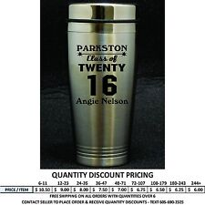 Personalized Graduation Travel Mug Graduate Class of 2018 Gift Stainless Steel