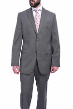 Mens 36S Bruno Piattelli Classic Fit Gray Textured Two Button Wool Suit