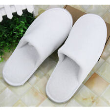 10 Pairs Spa Hotel One Time Slippers Travel Disposable Shoes Coral Fleece