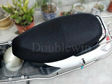 3D motorcycle electric car Breathable net seat cover scooter Black-L